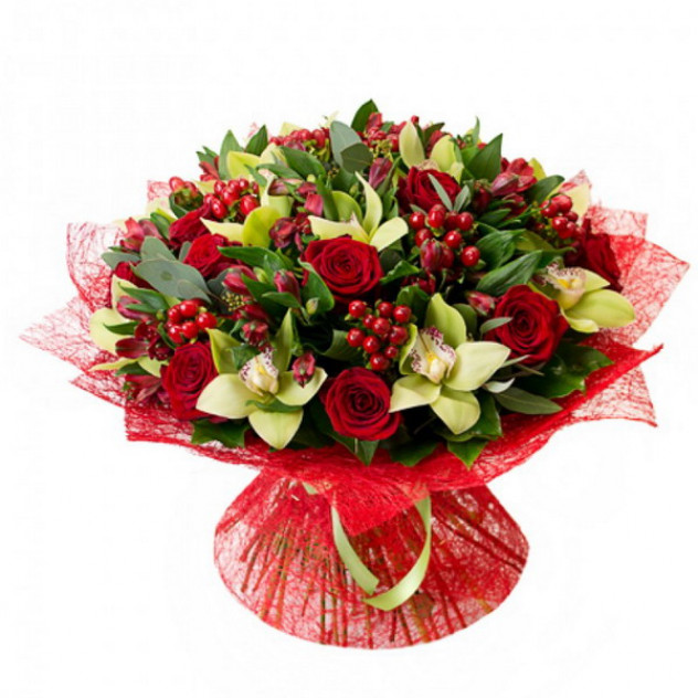 Букет с орхидеями № 2